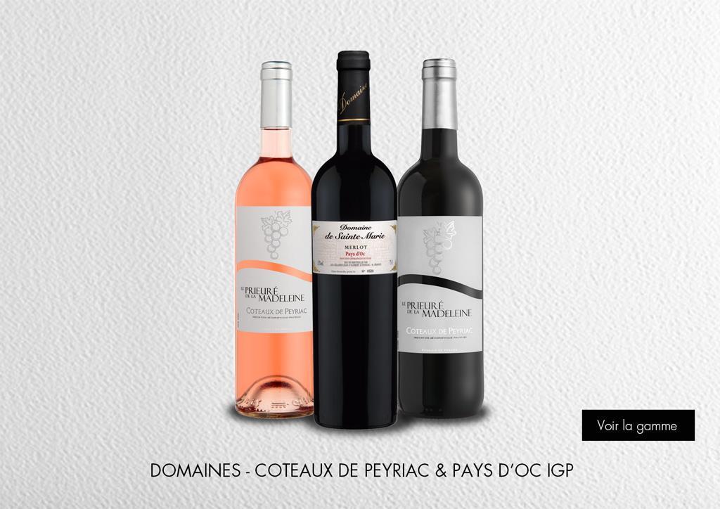Domaines - Coteaux de Peyriac et Pays d'Oc IGP : Gamme Domaines et Châteaux