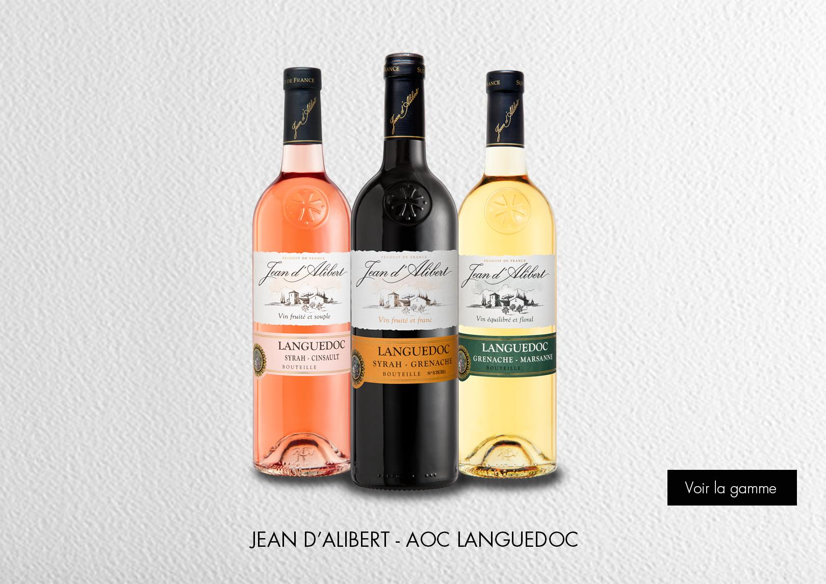 Jean d'Alibert - AOC Languedoc : Gamme Marques et Signatures