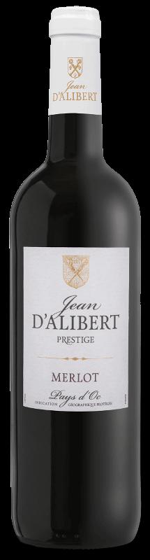 Merlot de la gamme Jean d'Alibert Prestige Pays d'Oc IGP