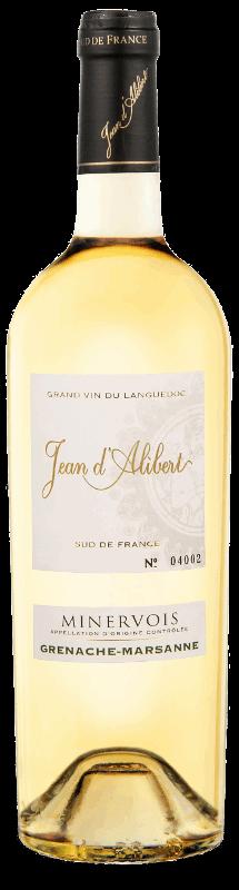 Minervois blanc de la gamme Jean d'Alibert AOC Minervois et AOC Minervois La Livinière