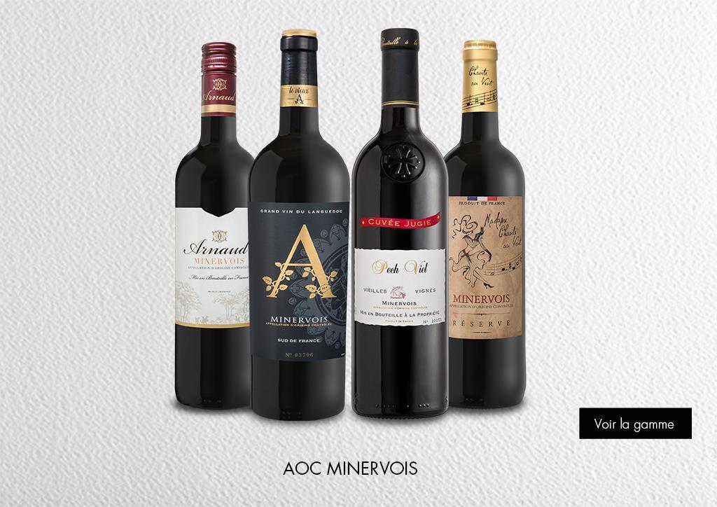 AOC Minervois : Gamme Marques et Signatures