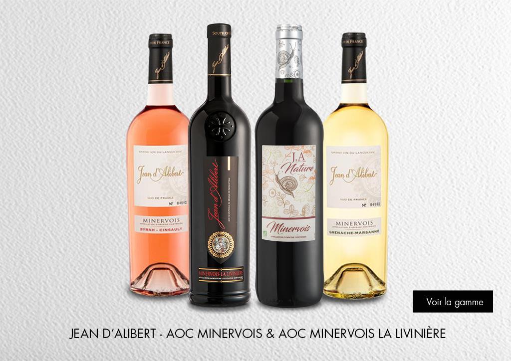Jean d'Alibert - AOC Minervois & AOC Minervois La Livinière : Gamme Marques & Signatures