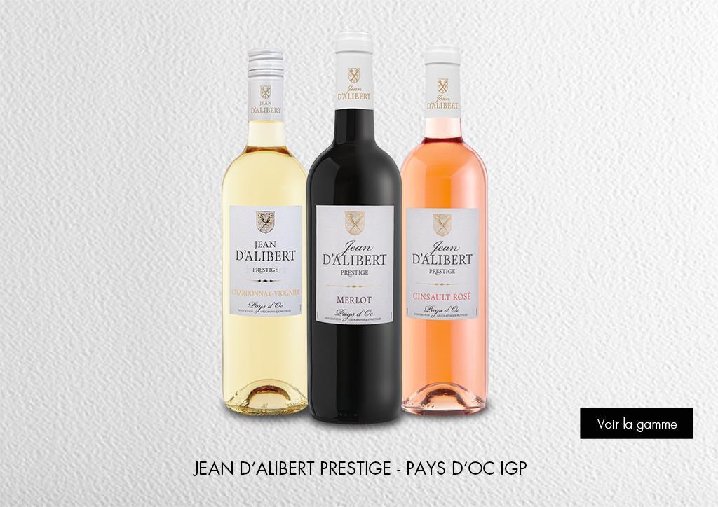 Jean d'Alibert Prestige - Pays d'Oc IGP : Gamme Marques & Signatures