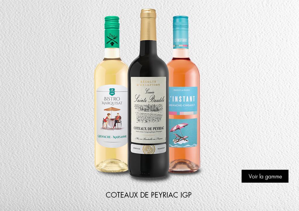 Coteaux de peyriac - IGP : Gamme Marques & Signatures