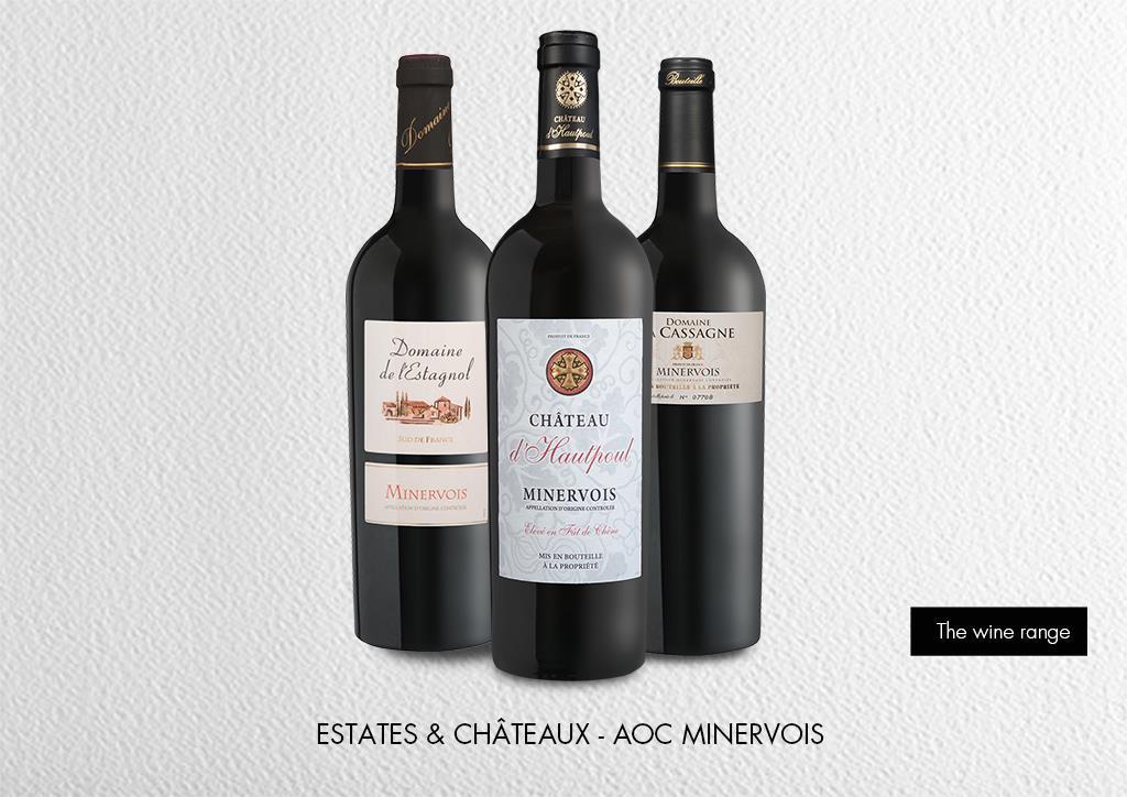 Estates & Châteaux - AOC Minervois : Range Estates & Châteaux